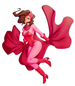Scarlet Witch Pin Up