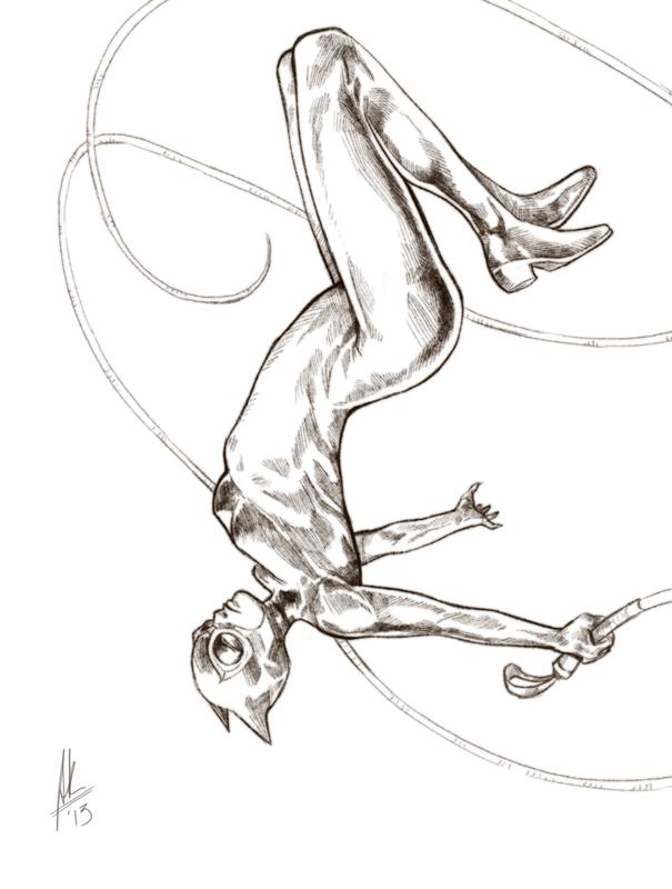 Jumping Catwoman by AviKishundat