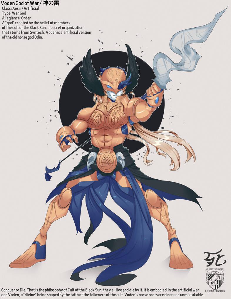 Voden, god of war by MinstrelScrewTape