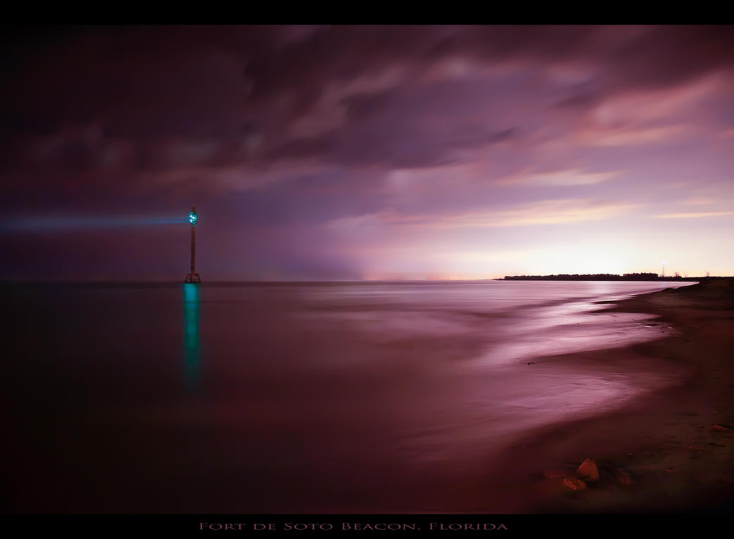 Fort de Soto Beacon, Florida (photograph) by AugenStudios