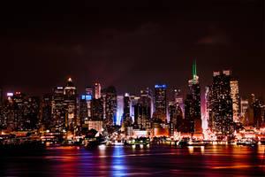 Manhattan Skyline after Dark by AugenStudios