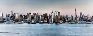 Panoramic Manhattan with Hazefall