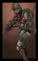 Clone shock trooper by SmacksArt