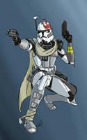 Galactic civil war ARC trooper Ghost by SmacksArt