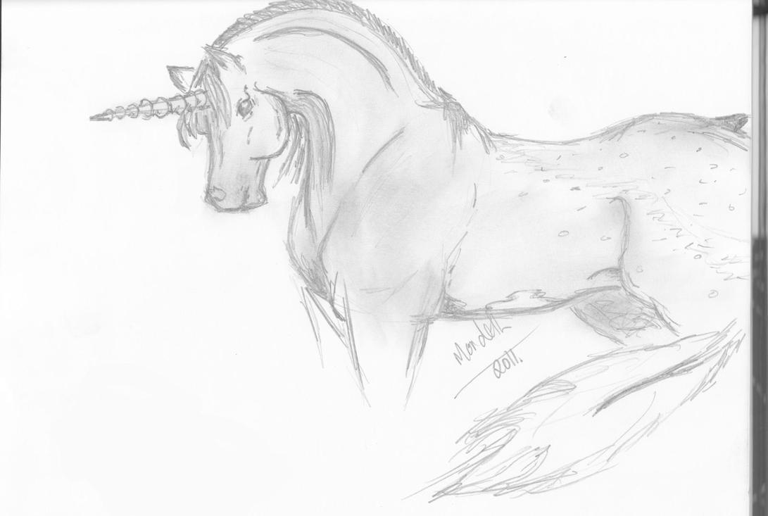 unicorn drawing by loukri on deviantart