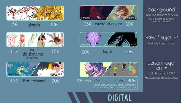 Digital commissions [NEW PRICESHEET]