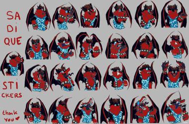 [Commission] Sadique's Stickers !