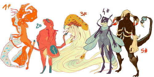 [Adopts] Insects and sheelfish [OPEN]
