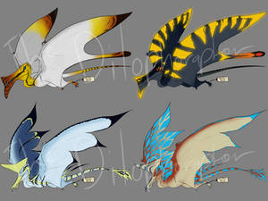 4/4 OPEN Mutant Pterosaur Adoptables
