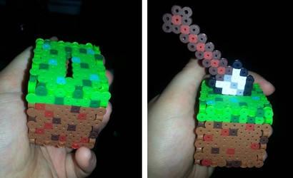 Minecraft 3d perler Cube by CraftinNerdy