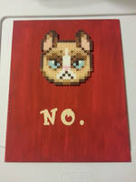 Grumpy Cat Perler Canvas by CraftinNerdy