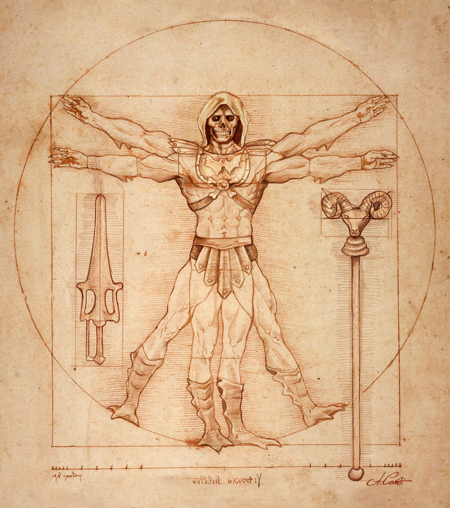 Vitruvian Skeleltor by AlessandroConti