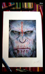 CAESAR   -  DAWN OF THE PLANET OF THE APES - by AlessandroConti