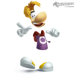 Rayman Smashified (original, transparent) by hextupleyoodot