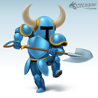 Shovel Knight Smashified by hextupleyoodot