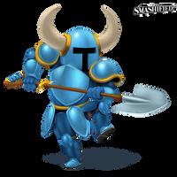 Shovel Knight Smashified (Transparent) by hextupleyoodot