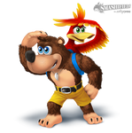 Banjo and Kazooie Smashified (transparent)