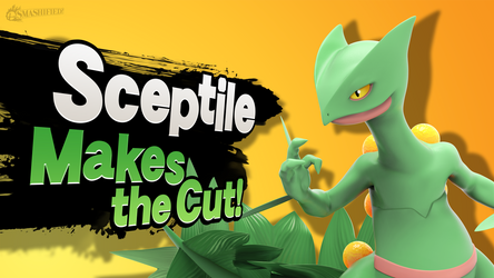 Sceptile Makes the Cut! by hextupleyoodot