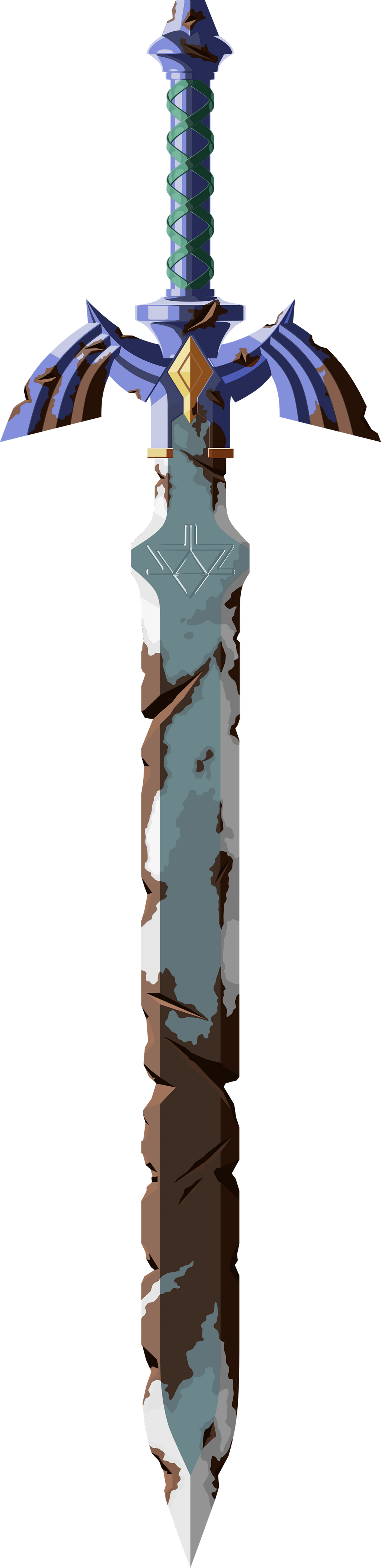 Rusted Master Sword (Hi-res) by hextupleyoodot