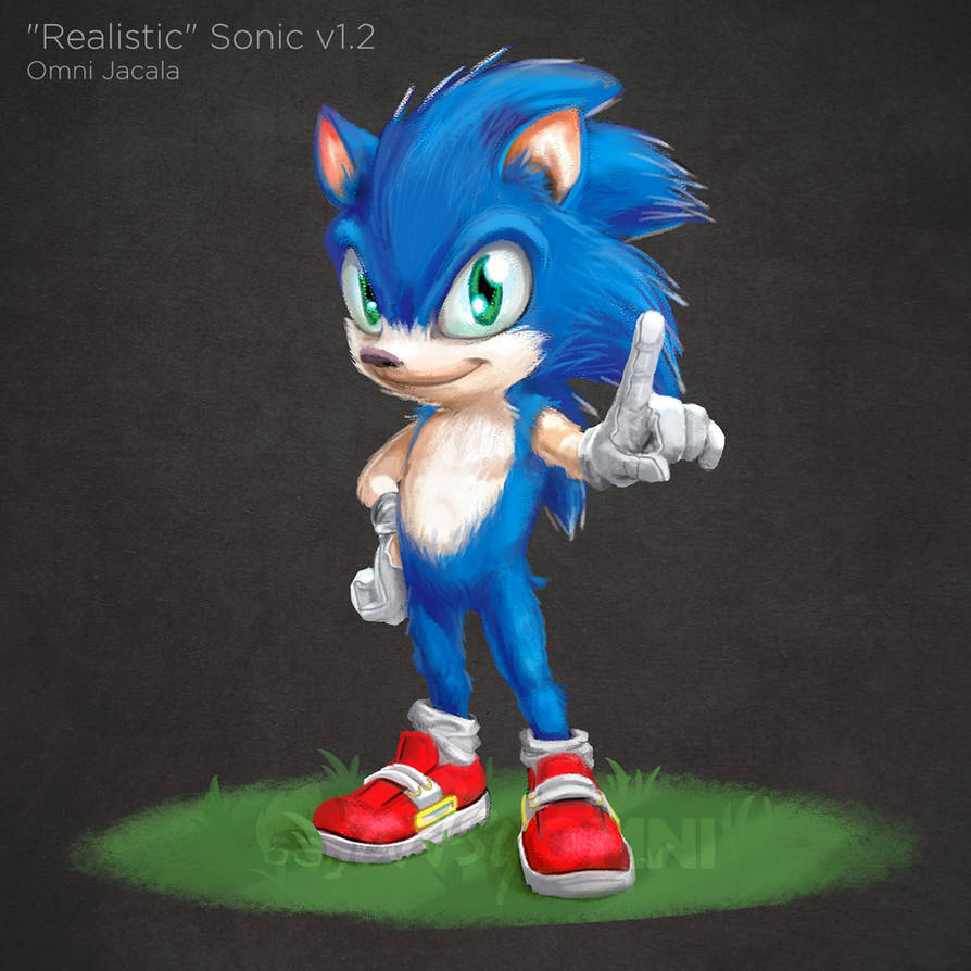 Realistic Sonic The Hedgehog V1 2 By Hextupleyoodot On Deviantart
