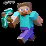 Minecraft Steve... Smashified? by hextupleyoodot