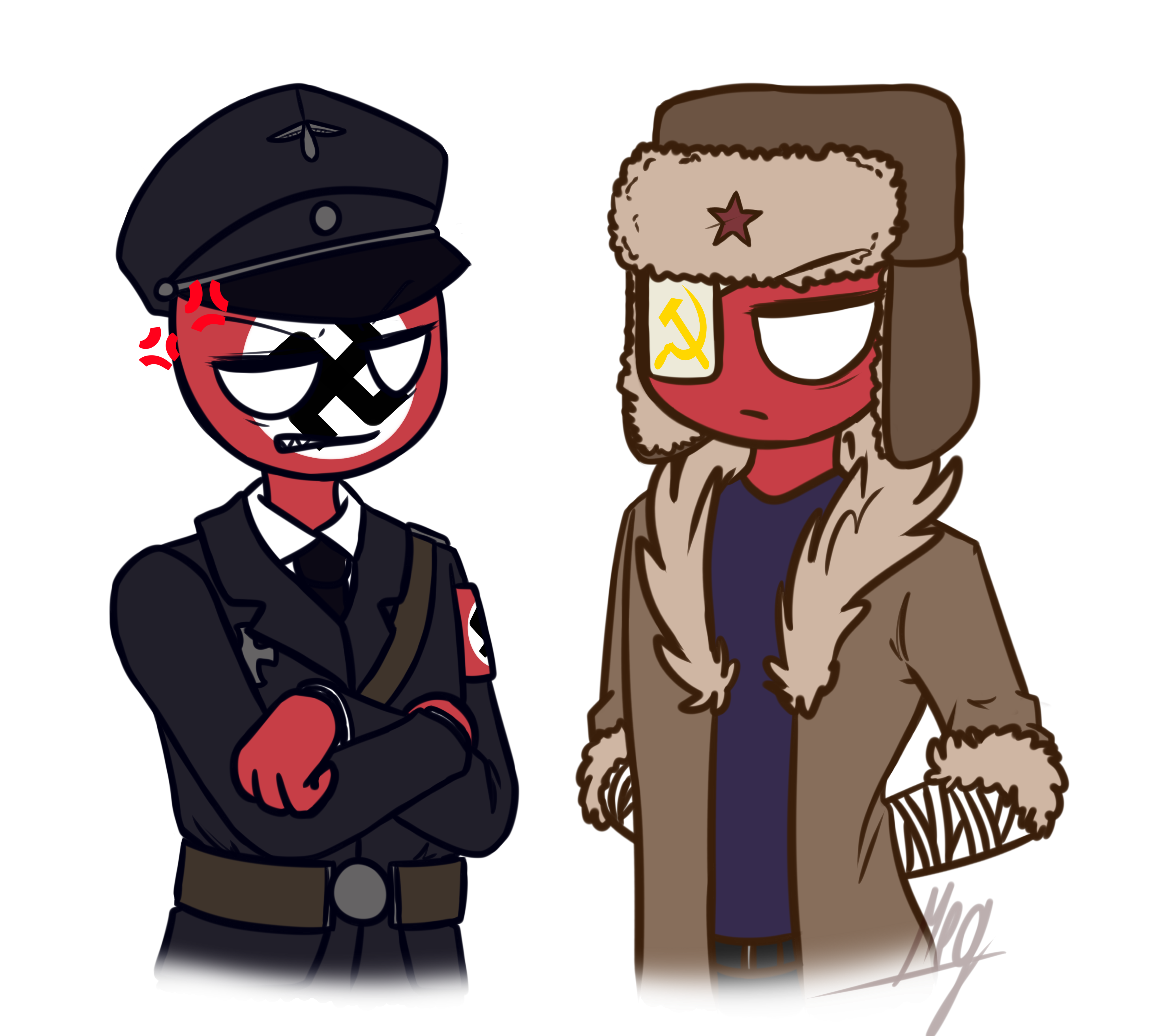 -|CountryHumans|- Third Reich and USSR by Koro-Megasaki ...