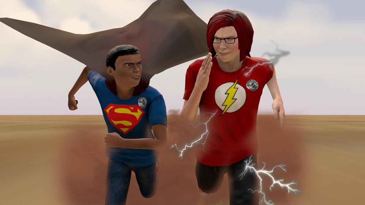 Superkid race Kid Lightning by shrunkenlover