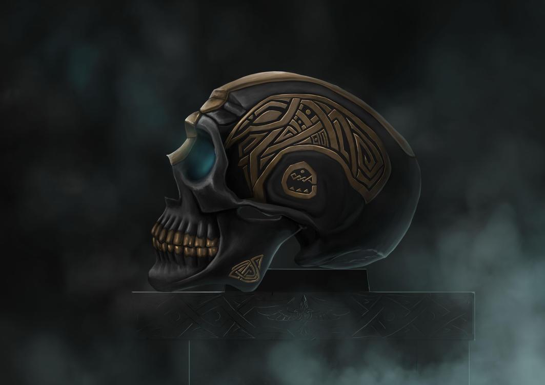 Skull artefact by Ollams