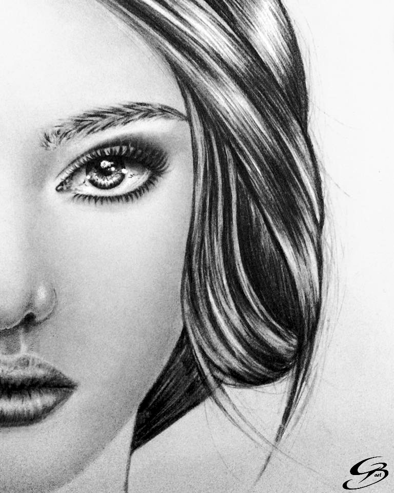 Face and hair study by GeorgeXVII