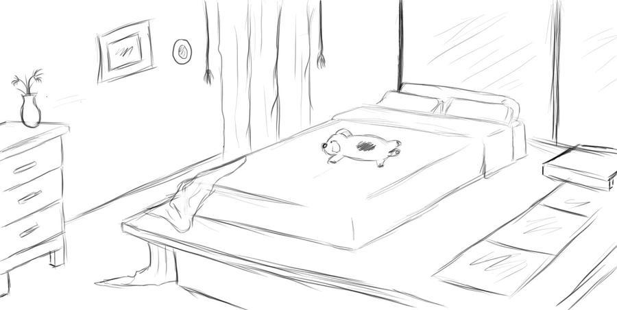Random Bedroom Sketch by AccursedLove. Random Bedroom Sketch by AccursedLove on DeviantArt
