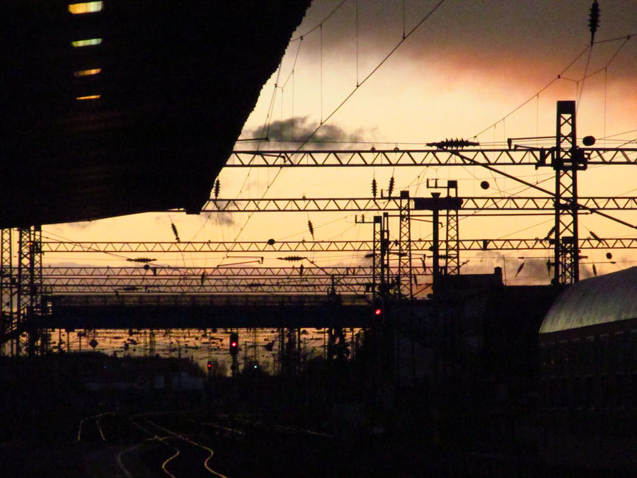 Railway station by varga-thamas
