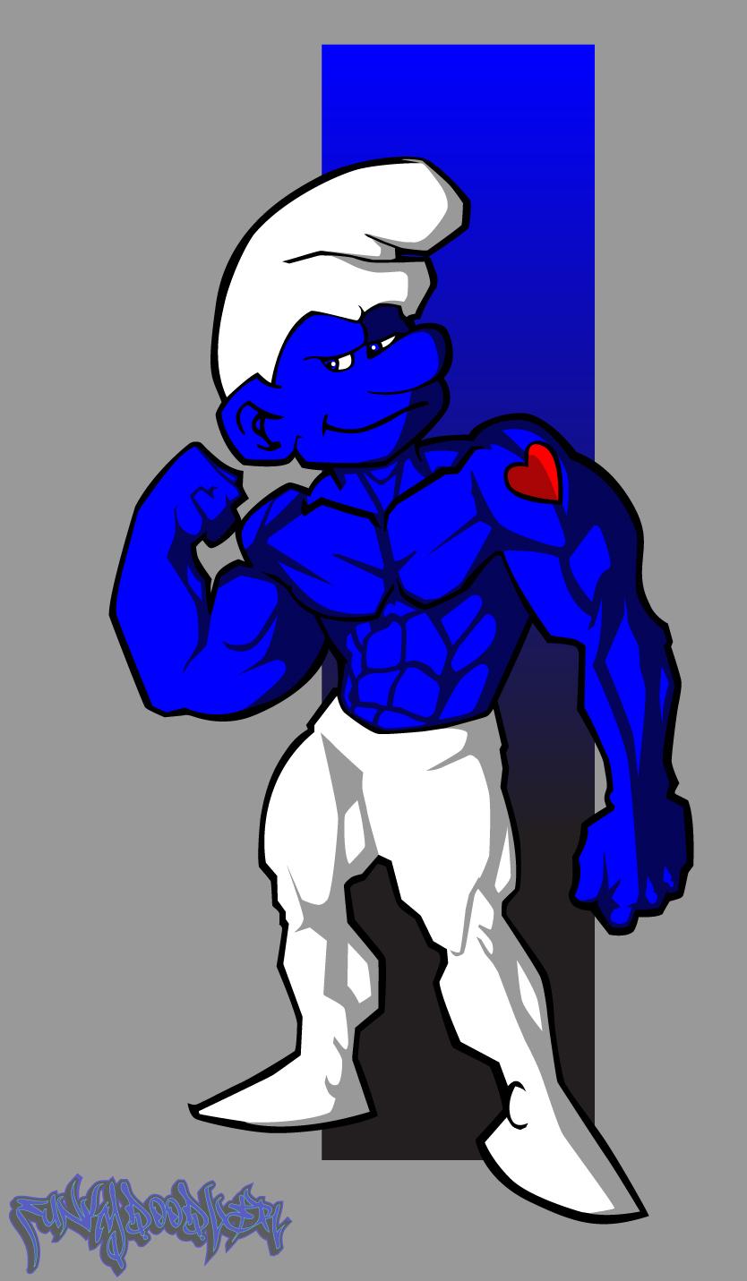 Hefy Smurf by funkydoodler