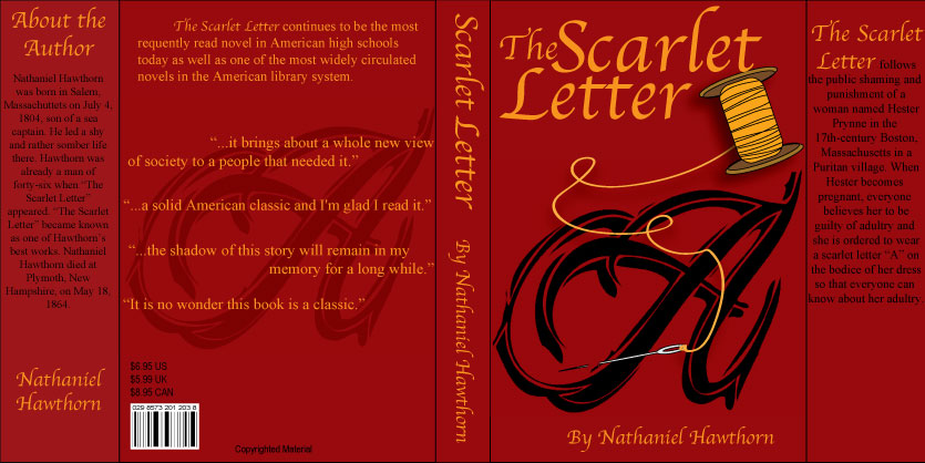 Scarlet Letter Book Cover By KCCreations