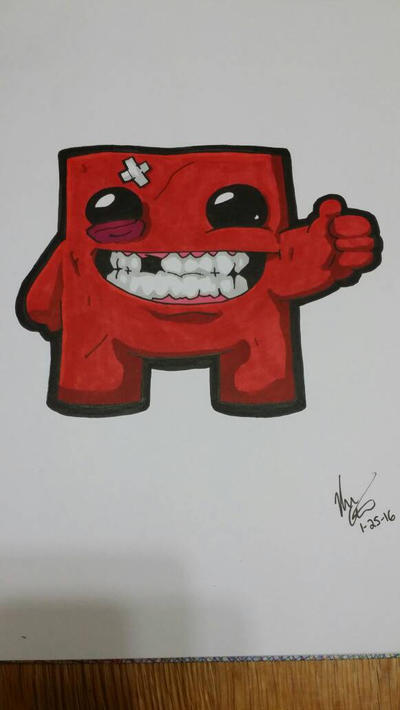 Super Meatboy by KCCreations