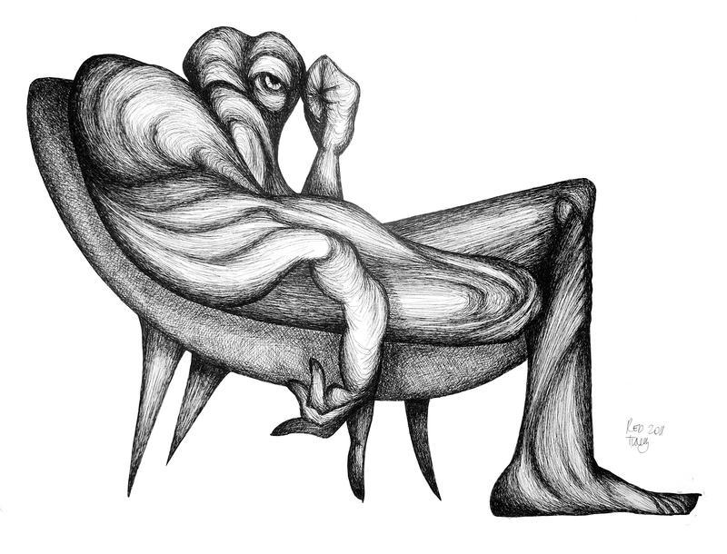 Thinking on the sofa by RedTweny