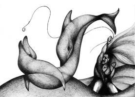 Two dolphins by RedTweny