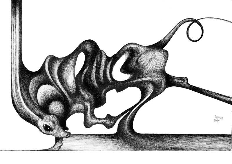 Tied bull by RedTweny