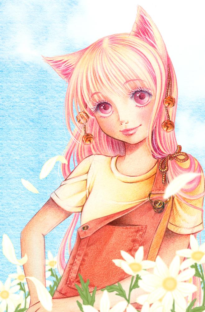 Neko-chan in Summer by Victoria-Rivero