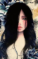 Blue Memories II by Victoria-Rivero