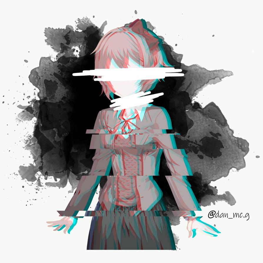 Doki Doki Literature Club Minimalist (Sayori Dark) by DanMcG2018