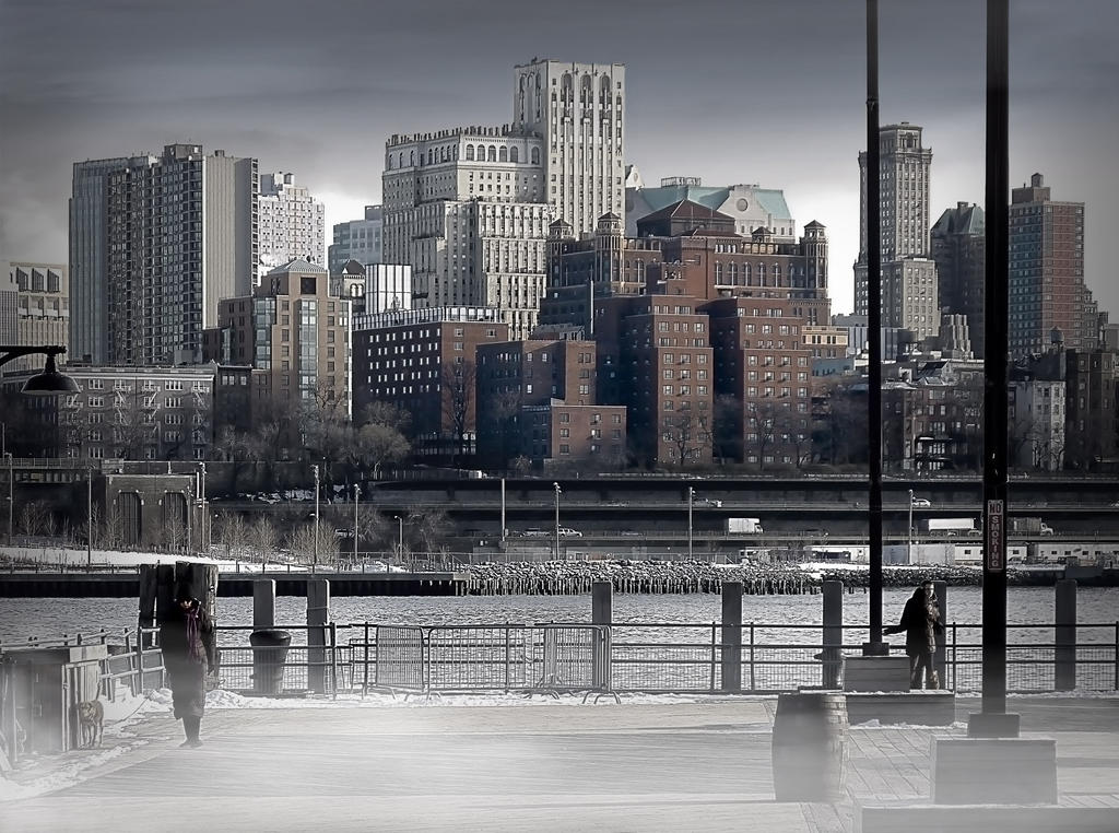Pier 17 on a freezing day - New York by Marcusion