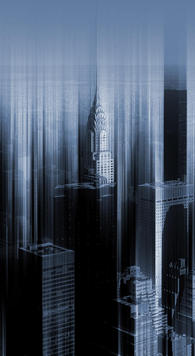 Chrysler Building from Empire Building - New York by Marcusion
