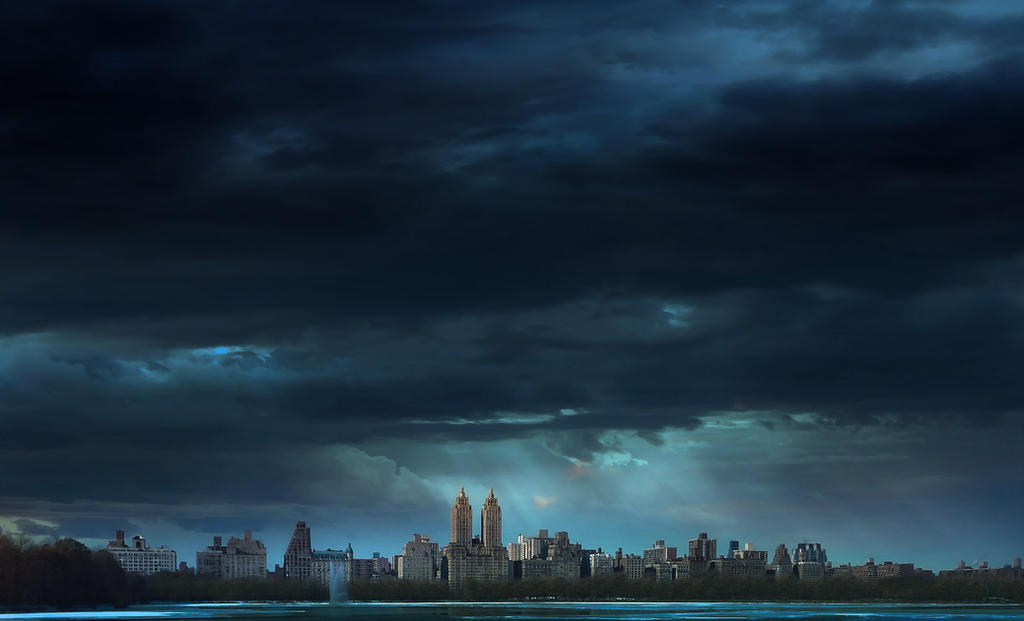 Clouds on Central park - New York by Marcusion