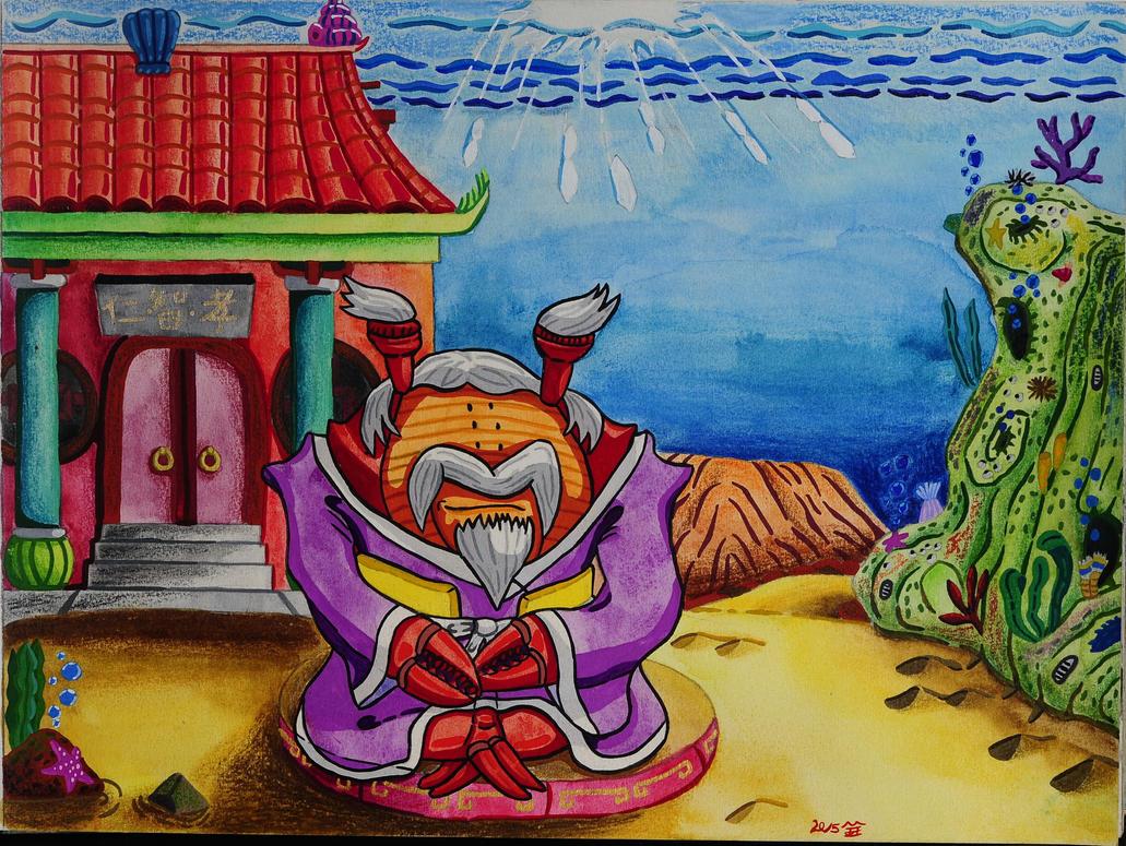 Meditation of Immortal monk the scylla serrata by Chen-Bo-Quan