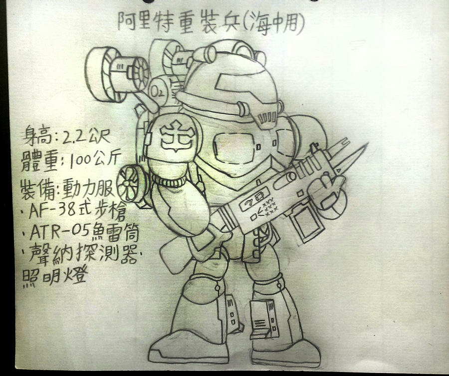 Arriet Heavy soldier(Used in the sea) by Chen-Bo-Quan