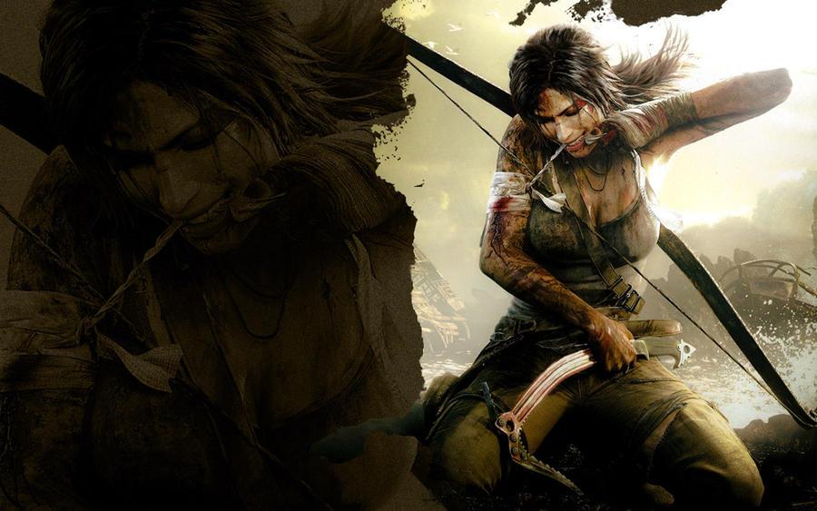 Lara Croft wallpaper 2 by SonRuki
