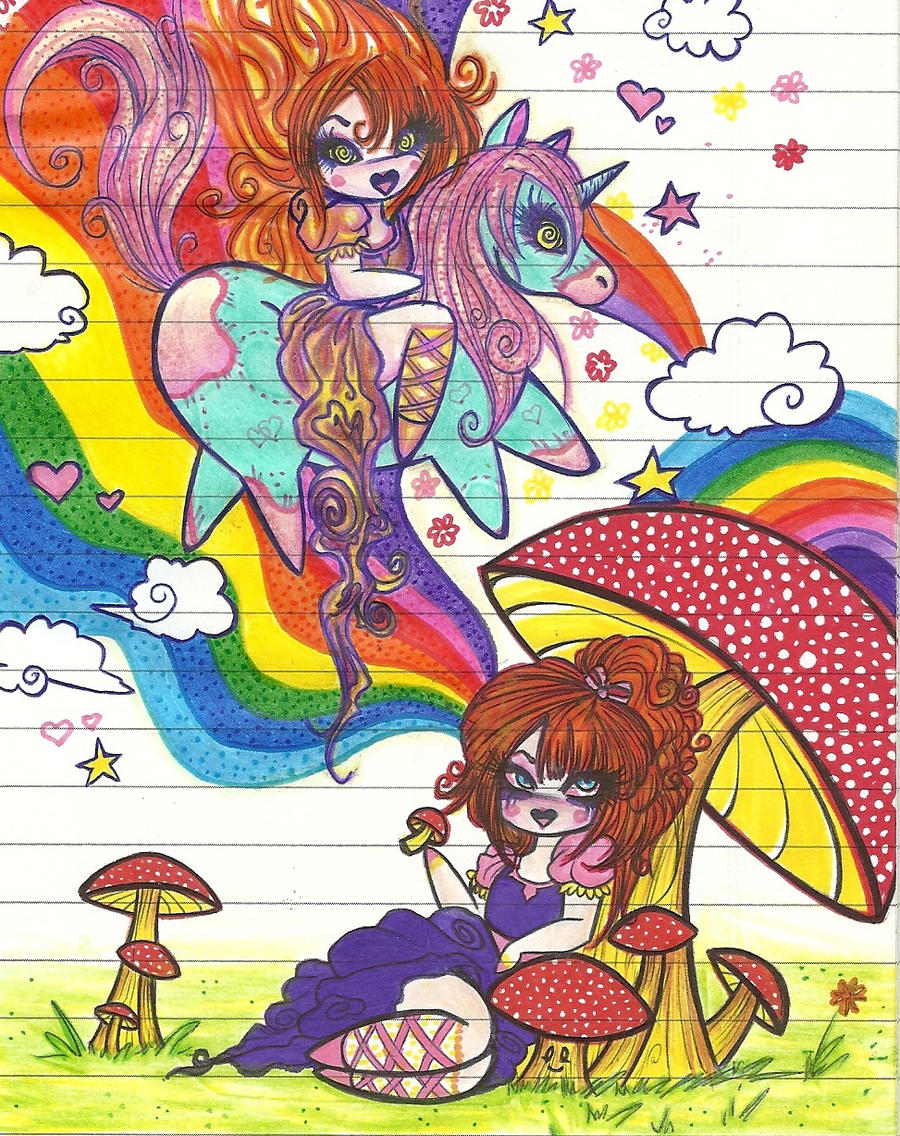 Psychedelic Mushrooms by Blasphemy-Cat