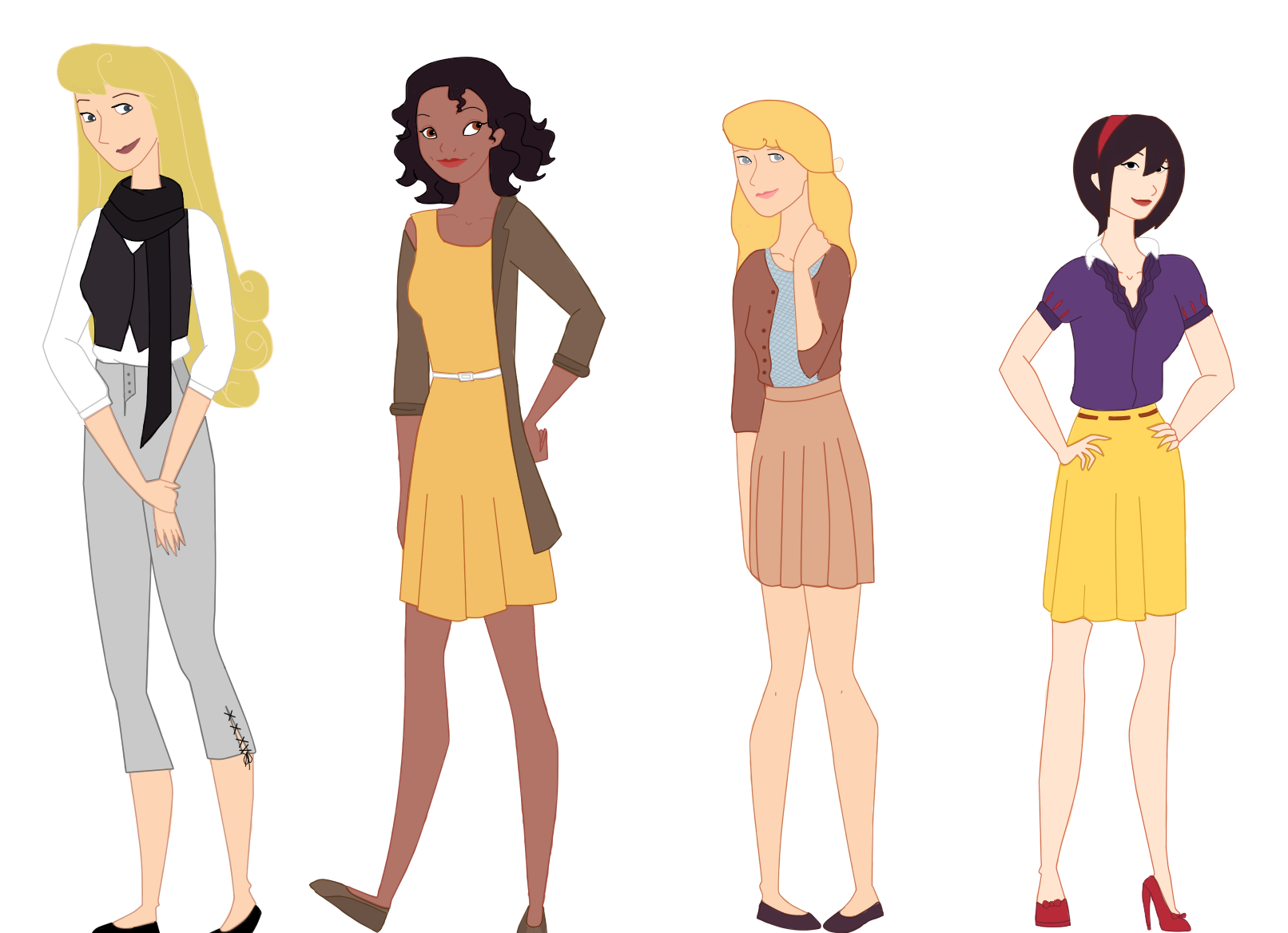 Modern disney princesses by itoriiii on deviantart