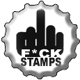 F+CK STAMPS bottlecap by olauslinn