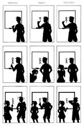 Humor in Silhouette Comic